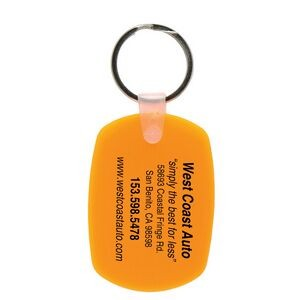 Soft Squeezable Key Tag (Oval)