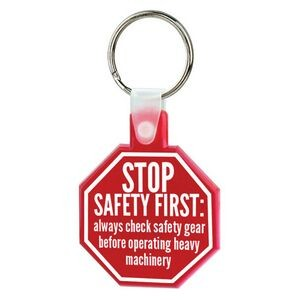 Soft Squeezable Key Tag (Stop Sign)